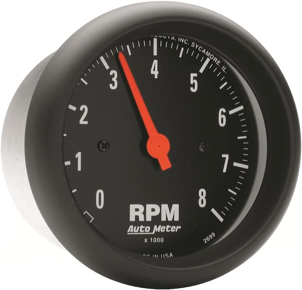 Auto Meter 2698 Z-Series in-Dash Electric Tachometer