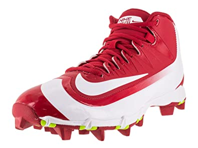 3dd2a558697 Nike Men s Huarache 2KFilth Keystone Mid Baseball Cleat University  Red Volt White Size 8