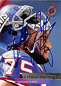 Autograph 125045 New York Giants 1995 Topps Stadium Club No. 144 Keith Hamilton Autographed Football Card