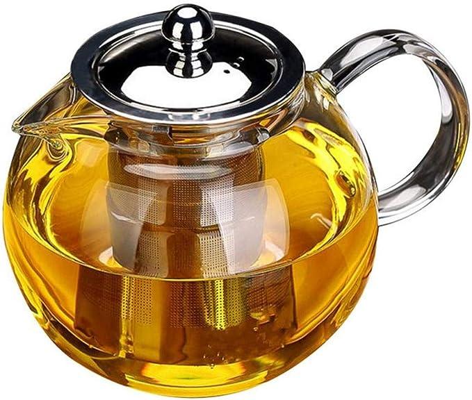 OBOR Tetera de cristal con infusor – Tetera de OBOR para hacer té ...