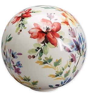 Amazoncom Ceramic Butterflies Garden Ball Patio Lawn Garden
