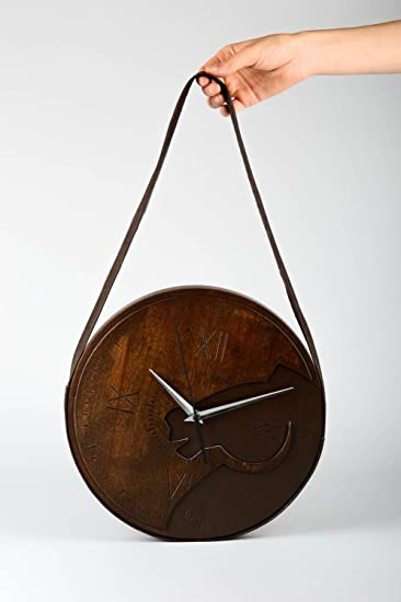 Amazon.com: Handmade Wall Clock Wall Decorating Ideas Unique ...