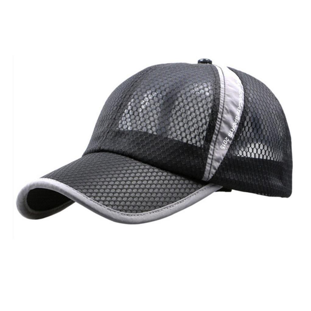 Sombrero de Sol Unisex para Vacaciones al Aire Libre, Transpirable, de Secado Rápido, de Malla de Béisbol, Sombrero de Sol, Color Negro, Tamaño Medium showsing