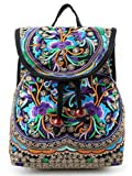 Goodhan Vintage Women Embroidery Ethnic Backpack Travel Handbag Shoulder Bag Mochila (S01: Purple) Review