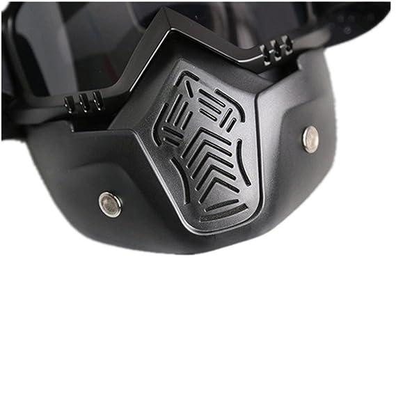 DZW Retro-Harley Maske Brille Offroad-Motorrad-Rennsport im Freien reiten Brille Brille , black