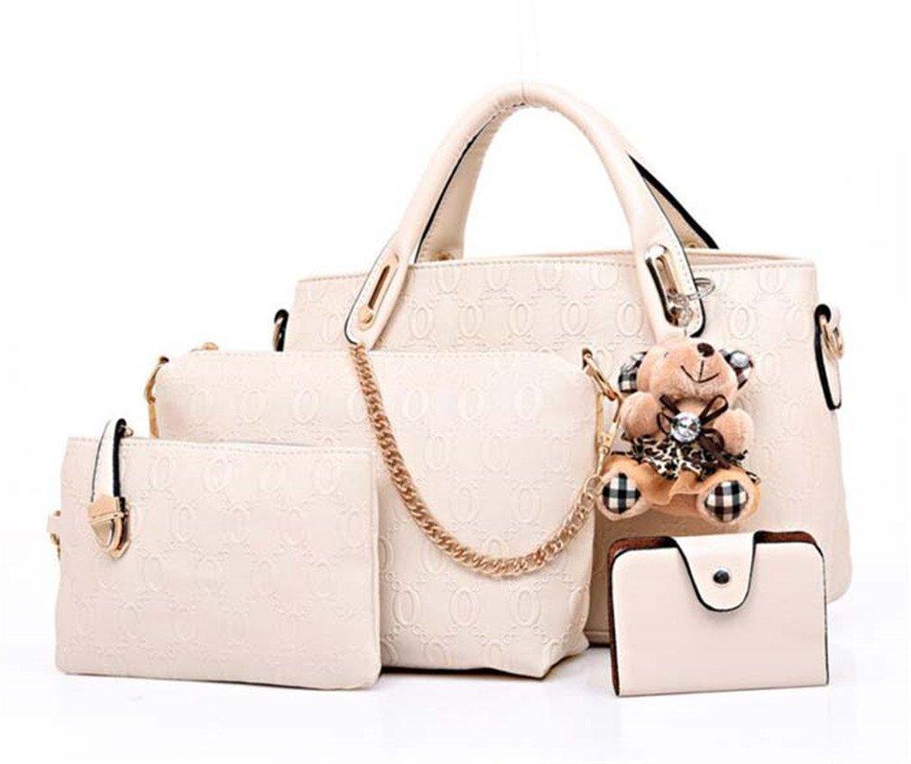9b185207ab Amazon.com  Easygill Women Messenger Bags Handbags PU Leather Female Bag 4  Piece Set  Sports   Outdoors