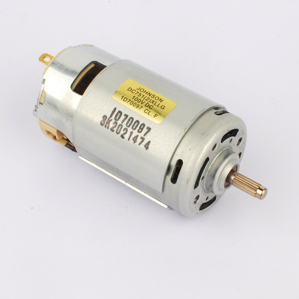 Powerful 150W 7512 DC Motor Large Torque Carbon Brush Spindle Motor 24V-120VDC 2400RPM-12000RPM