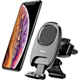 Baseus 車載ホルダー マグネット式 エアコン吹き出し口取り付け スマホホルダー 車載 スマホスタンド 改良版 伸縮可能なホルダー 360度回転可 着脱簡単 iPhone/iPad / Galaxy/Sony/ Huawei等に多機種対応 (ブラック)