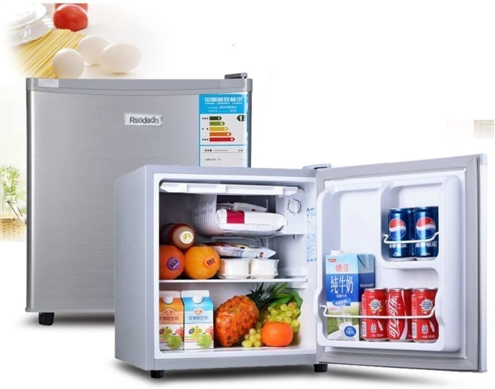 SL&BX Mini Fridge Refrigerator car Dual-use Dormitory Cabinet Stainless Steel Door Refrigerator-A 100L
