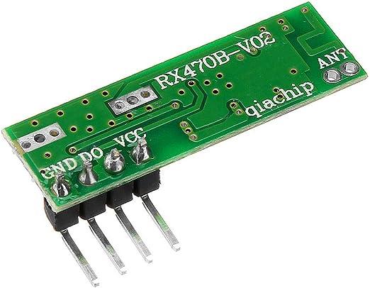 Quintion Child RX470 433Mhz RF Módulo de Receptor de Control Remoto inalámbrico + WL102 433MHz Módulo de transmisor de Control Remoto inalámbrico: Amazon.es: Electrónica
