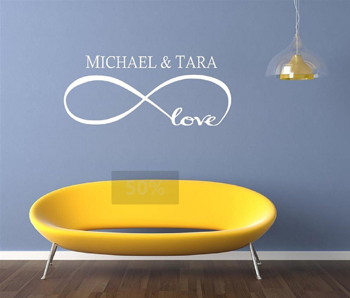 Amazon.com: Hupplle Personalized Custom Name with Infinity Symbol ...
