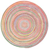 Capel Rugs Baby's Breath 3 ft. Round Braided Area Rug (Pink) For Sale
