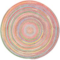 Capel Rugs Babys Breath 3 ft. Round Braided Area Rug (Pink)