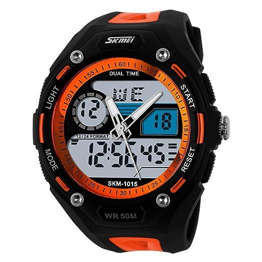 Skmei - Reloj de pulsera multifuncional analógico y digital, resistente al agua, para niños y niñas: Amazon.es: Relojes