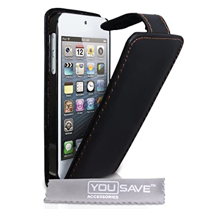 timeless design efe27 be7a5 iPod Touch 5G 5 PU Leather Flip Case Black: Amazon.ca: Cell Phones ...
