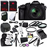 Panasonic Lumix DMC-FZ1000 Digital Camera + Replacement Lithium Ion Battery + External Rapid Charger + 64GB SDXC Class 10 Memory Card + Carrying Case + External Flash + 62mm UV Filter + 62mm 3 Piece Filter Kit + 62mm Macro Close Up Kit + Micro HDMI Cable + Full Size Tripod + 12-Inch Flexible Tripod with Gripping Rubber Legs + SD Card USB Reader + Memory Card Wallet + 3 Piece Digital Grey Balance Cards Set + Deluxe Starter Kit DavisMAX Bundle For Sale