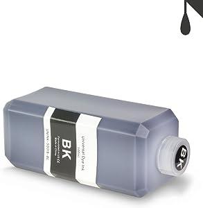 ALLINKTONER Black Refill Ink 500 ml (16.9 oz) Bottle Compatible with Most Inkjet Printers & Refill Kit