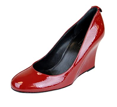 88fd2c9ebee Gucci Red Patent Leather Interlocking G Wedge Pumps 256339 (10 US   40 IT)