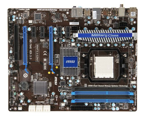MSI Socket AM3/AMD 890FX/DDR3/SATA3&USB3.0/A&GbE/ATX Motherboard 890FXA-GD65