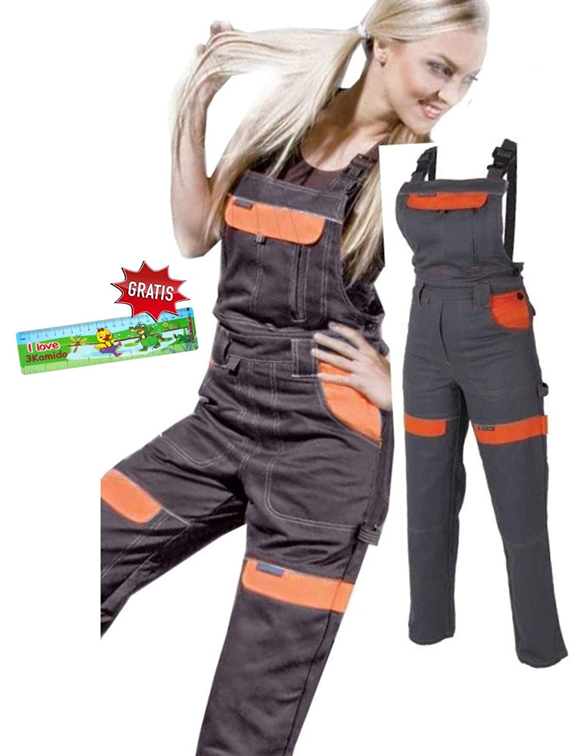 ARDON Women Work Bib and Brace Girls Overalls Ladies Trousers Dungarees BIB PANTS NEW (2 UK- 30 EU)
