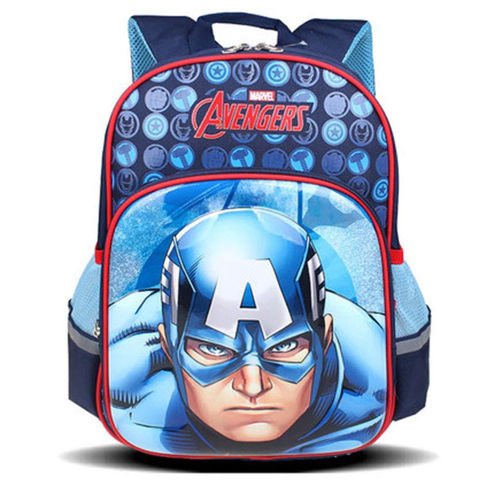 E  YANZZ Marvel Avengers sac à dos Captain America imperméable Grande Capacité Sac à Dos Scolaire Sac à Dos pour Garçons Et Filles pour Enfants Sacs D'école D