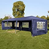Polar Aurora 10'x30' 5 Walls Canopy Party Wedding Outdoor Tent Gazebo Pavilion Cater Events Heavy Duty (Blue)