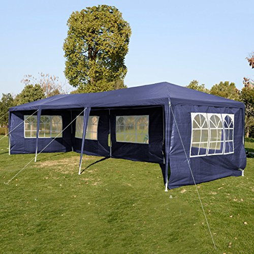 Polar Aurora 10'x30′ 5 Walls Canopy Party Wedding Outdoor Tent Gazebo Pavilion Cater Events Heavy Duty (Blue)