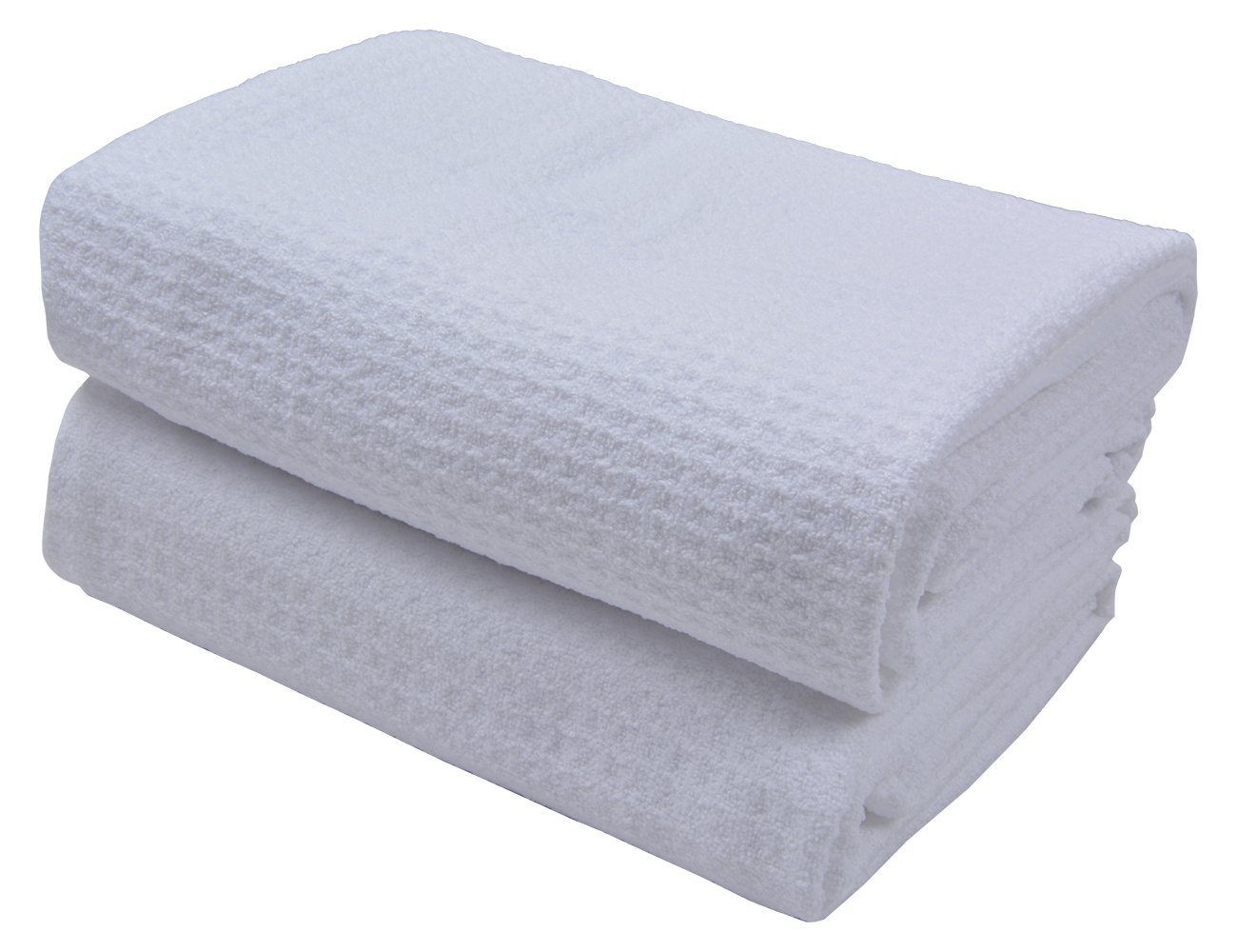 Sunland Microfiber Hair Drying Towel Waffle Weave Towel Extra Large Hand Towels 20Inchx40Inch 2 PACK White
