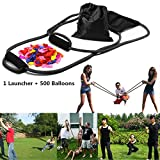 YHMALL 300 Yard 3 Person Water Balloon Launcher with 500 Water Balloons, Outdoor Game for Kids and Adults (1 launcher+500 balloons)