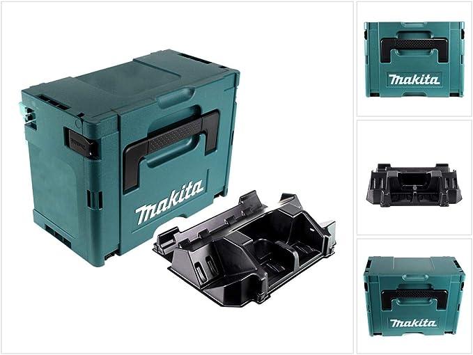 Makita MAKPAC 3 - Maletín de plástico con accesorios para cargador Makita DC 18 RD y baterías: Amazon.es: Bricolaje y herramientas
