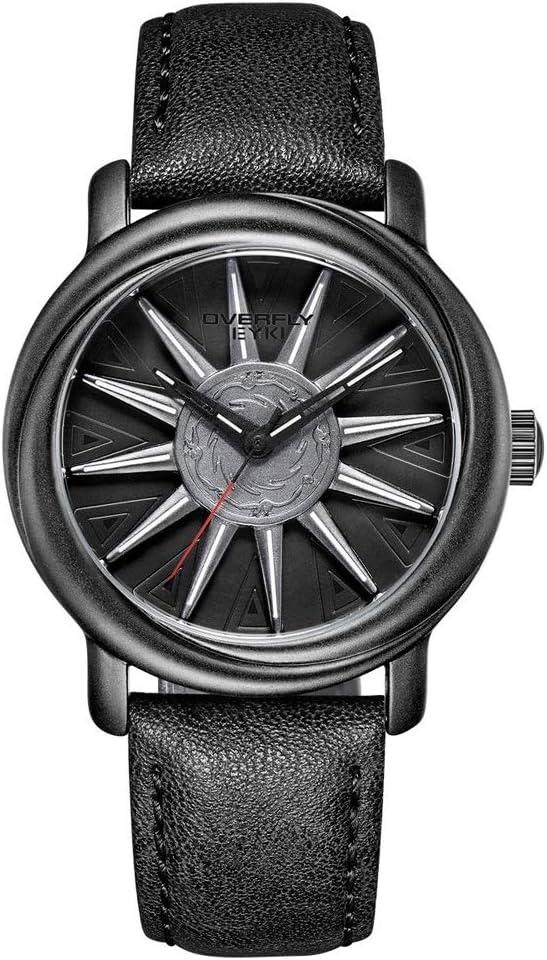 Yikuo El Reloj De Los Hombres De La Moda/El Reloj Impermeable Ocasional/El Material Es Bueno, Práctico Y Durable Delicado (Color : Black)