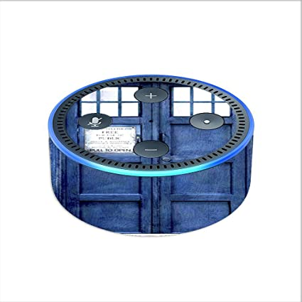 2nd generation Tardis call box // Phone booth Skin Decal for Amazon Echo Dot 2