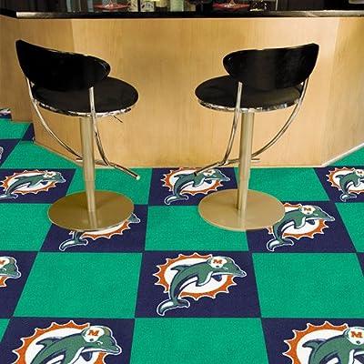 Fanmats Miami Dolphins Team Carpet Tiles