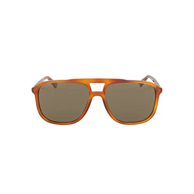 d45e546881a Image Unavailable. Image not available for. Color  Gucci GG0262S 002 Havana  GG0262S Square Pilot Sunglasses Lens ...
