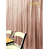 ShinyBeauty Sequin Backdrop 8FTx8FT-Blush,Sequin Curtain Backdrop Photo Booth Wedding Props Glitter Party Background Decorations (Blush)