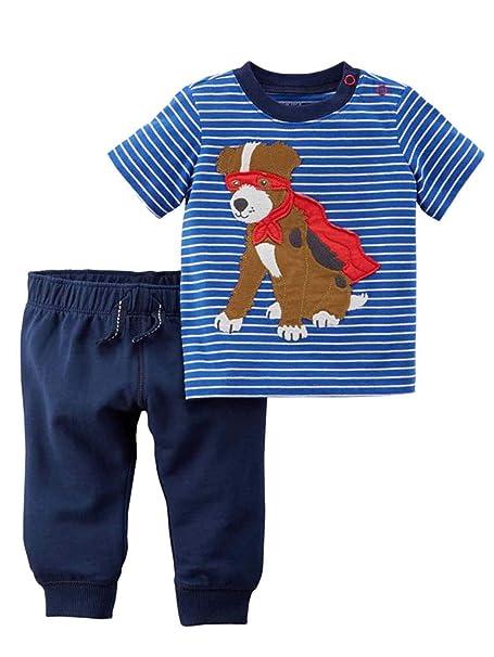 Amazon.com: Carters – Juego de camiseta y jogger para bebés ...