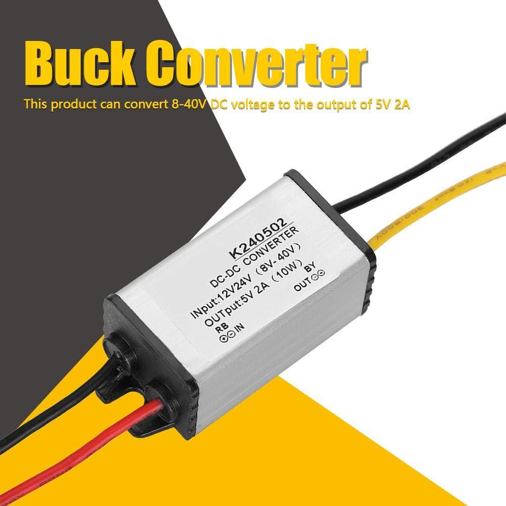 24V /à 5V 2A Efficacit/é R/égulateur de Tension DIY Alimentation Module de Bloc dalimentation Convertisseur abaisseur DC-DC Alimentation d/énergie Convertisseur Buck DC-DC 12V