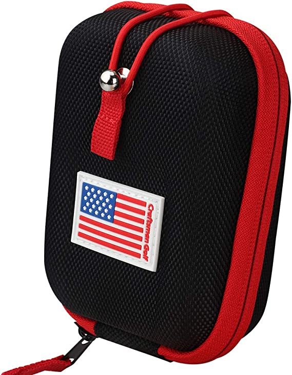 USA Flag Golf Range Finder Bag Hard Case for Tectectec Callaway and Other Most Brands