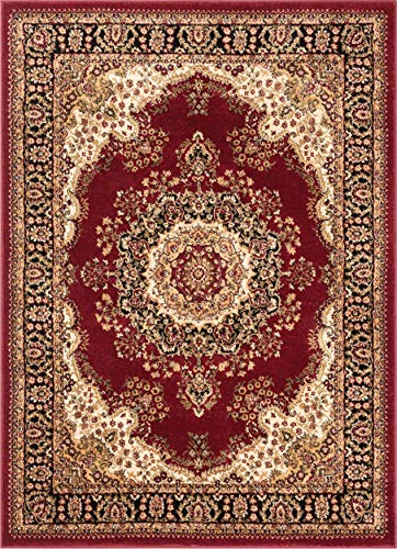Well Woven Medallion Oriental Persian Area Rug Red 8x10 8x11 (7'10