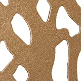 Adeco Luxury Modern Golden Accent Metal Coffee