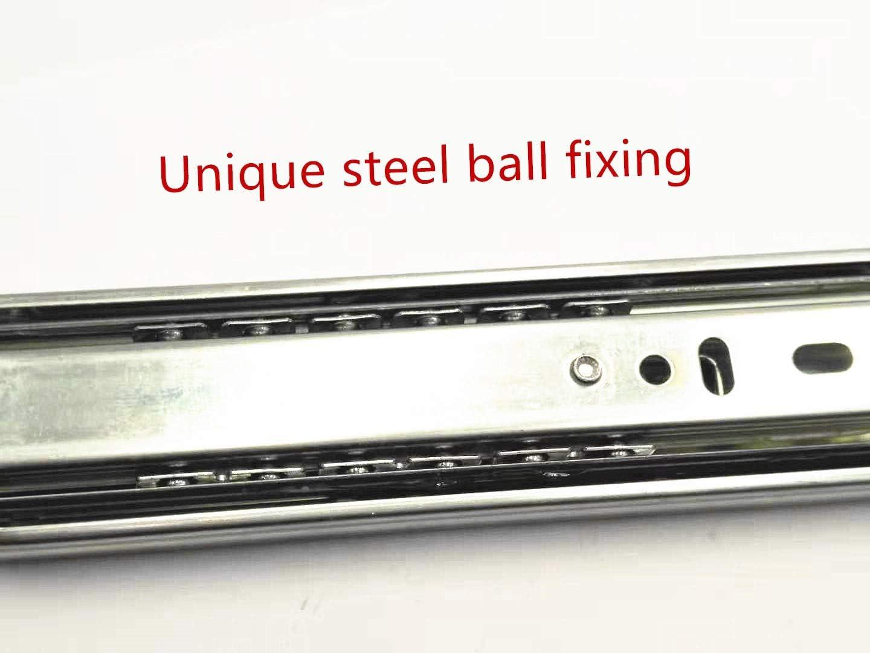 9 XJS Full Extension Ball Bearing Telescopic Drawer Slides Slide Rails 1 Pair