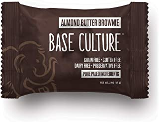 product image for Gluten Free Almond Butter Brownie, Chocolate With Almond Butter Drizzle, 100% Paleo, 6g Protein Per Brownie, Crafted by Base Culture (12 Count)