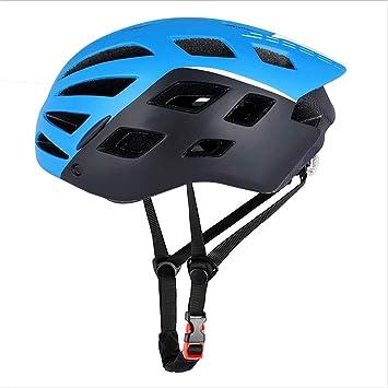 Grist CC Casco de Bicicleta con Luces traseras, Espejo magnético ...