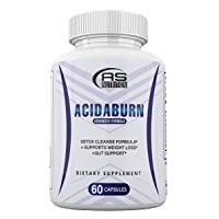 Acidaburn Detox Cleanse Formula, Acidaburn Pills for Weight Loss and Gut Support, 60 Capsules, 1 Month Supply