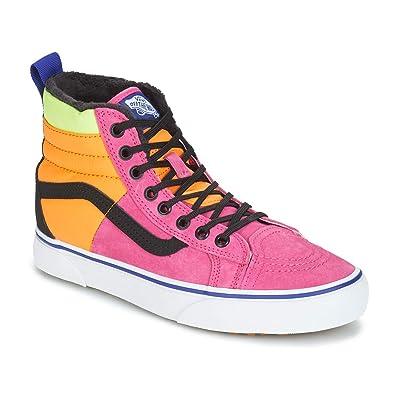 48bd2d5f5264 Image Unavailable. Image not available for. Color  Vans SK8-Hi 46 MTE DX  Pink Yarrow Tangerine Black ...