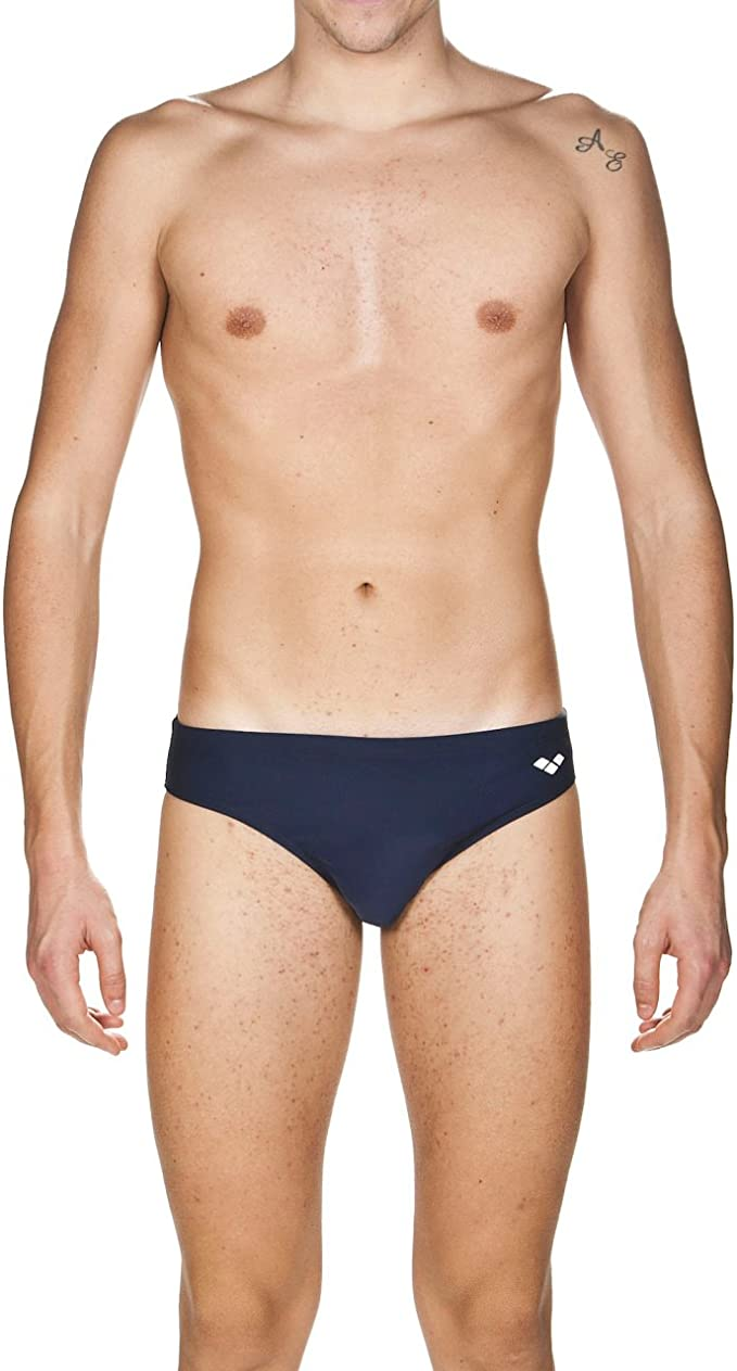 ARENA Brief, Bañador Hombre, Hombre, 000635_503_75, Black-Yellow Star, 75
