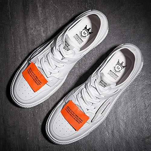 EAOJRSCSA Herrenschuhe Herbst Schuhe Trend Flut Schuhe Harajuku Canvas Herren Weiß Freizeitschuhe Atmungsaktive Schuhe