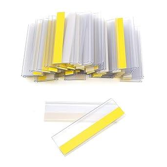 18 mm H/öhe, Transparent, 10 St/ück Magnetische Etikettenhalter f/ür Einstecketiketten 400 mm Breit//Tickethalter//Etiketten Halter