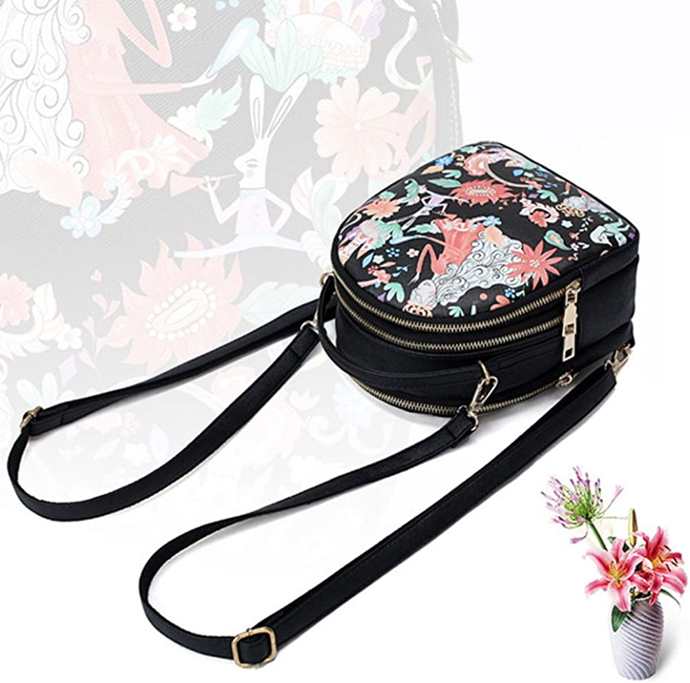 Dnasrivew New Ladies Backpack Forest Shoulder Bag Korean Fashion Creative Print Backpack