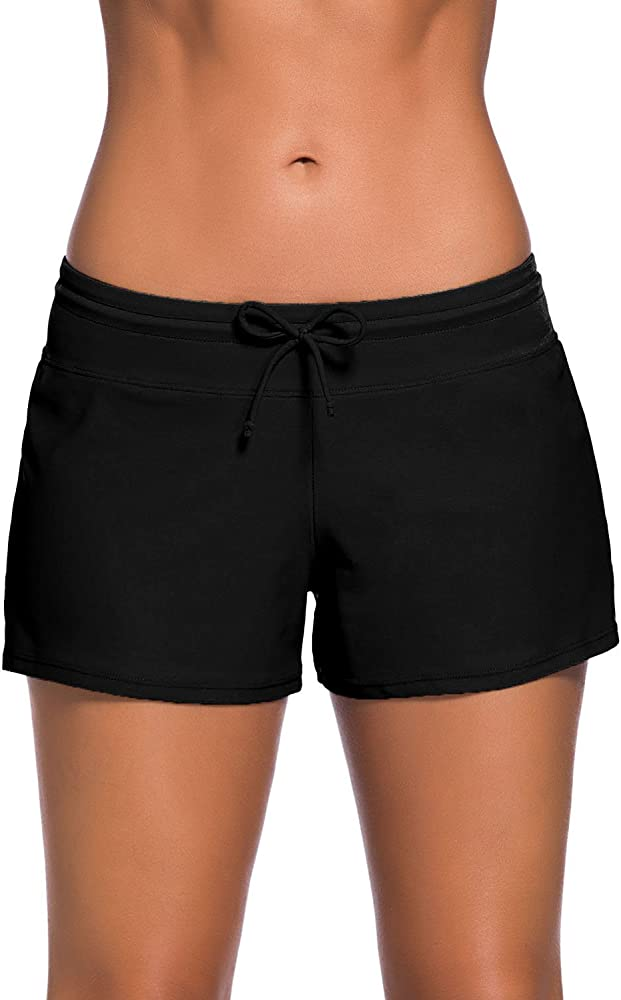 Tmaza Shorts de Baño Mujer Bañador Short Deportes Acuáticos Shorts ...